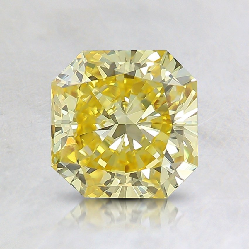 1.14 Ct. Fancy Vivid Yellow Radiant Lab Created Diamond