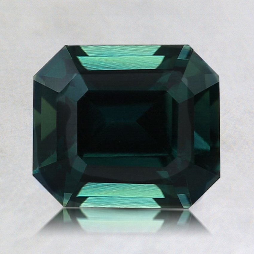 7.5x6.5mm Unheated Teal Emerald Sapphire