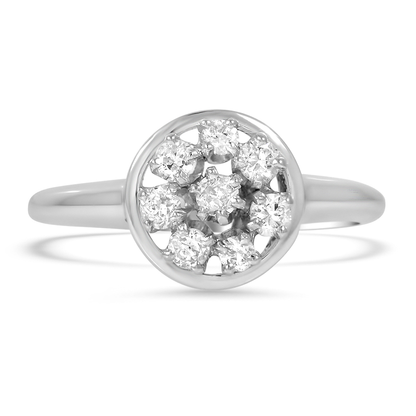 Modern Diamond Vintage Ring
