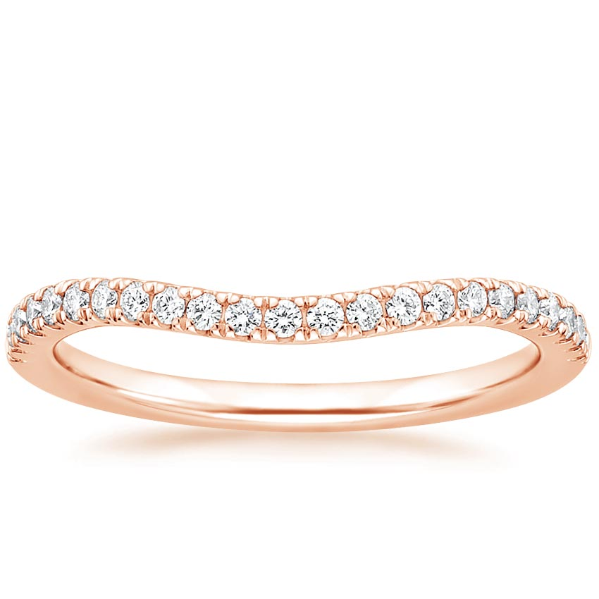 Rose Gold Curved Ballad Diamond Ring (1/6 ct. tw.)