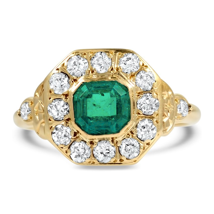 Edwardian Emerald Cocktail Ring