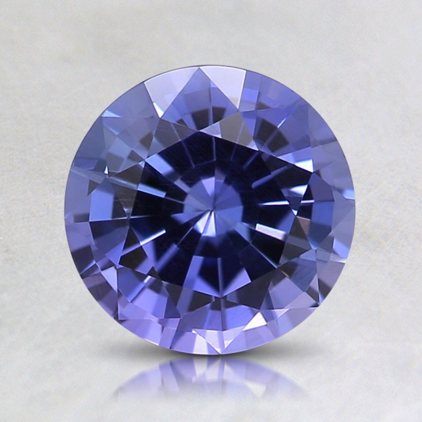 7mm Purple Round Sapphire, top view