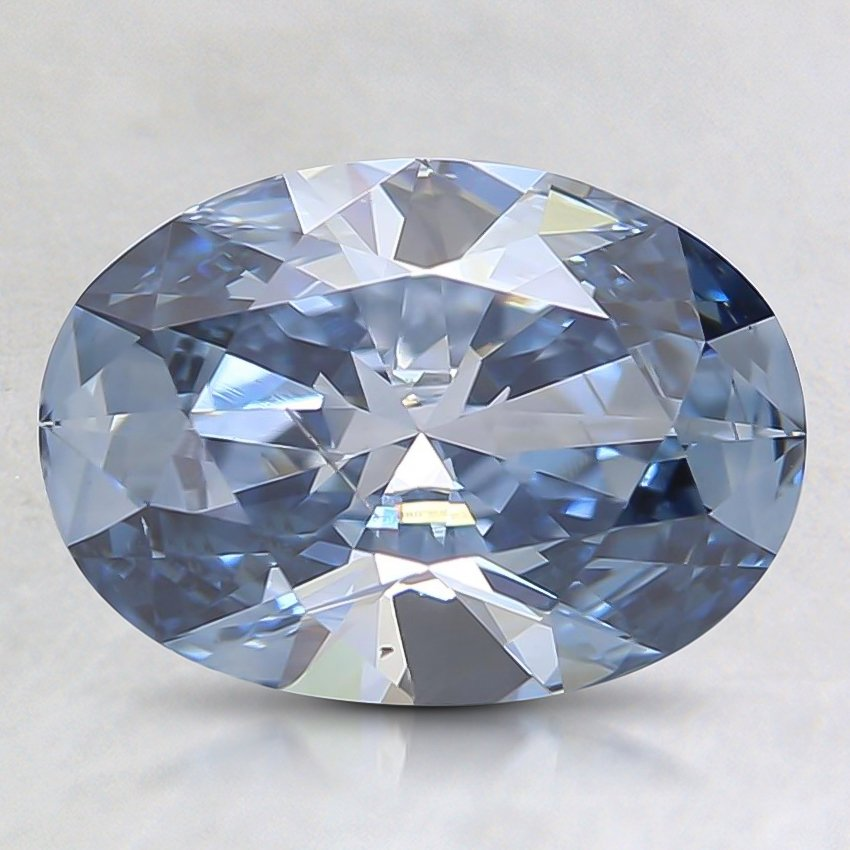 1.55 Ct. Fancy Blue Oval Lab Created Diamond