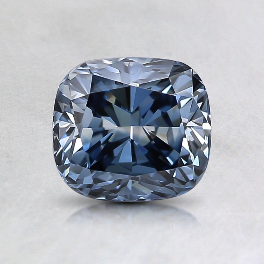 1.18 Ct. Fancy Intense Blue Cushion Lab Created Diamond