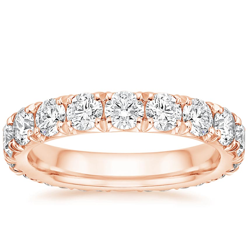 Rose Gold French Pave Eternity Diamond Ring (3 ct. tw.)