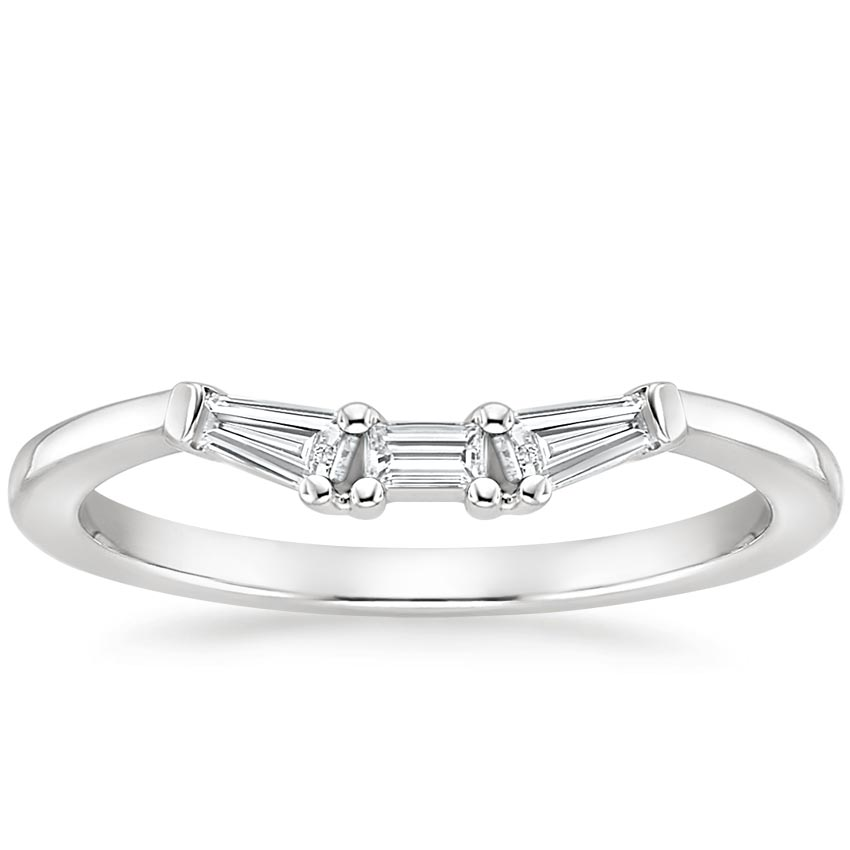 Tapered Baguette Diamond Ring in Platinum