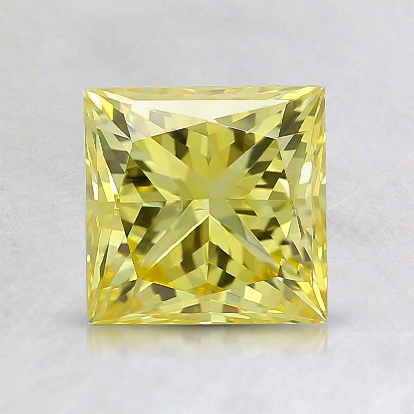 1.51 Ct. Fancy Vivid Yellow Princess Lab Created Diamond