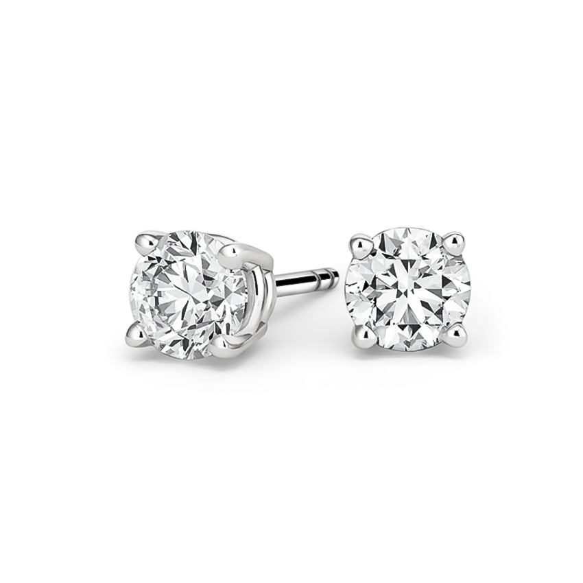 Round Diamond Stud Earrings (2 ct. tw.) in 18K White Gold