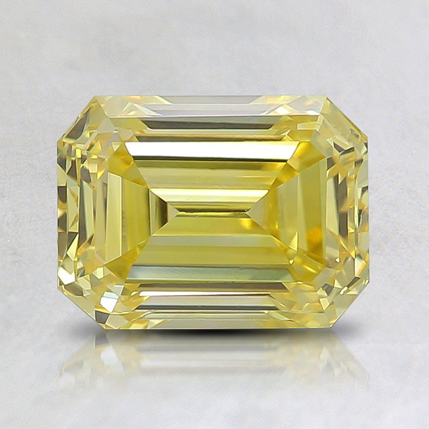 1.55 Ct. Fancy Vivid Yellow Asscher Lab Created Diamond