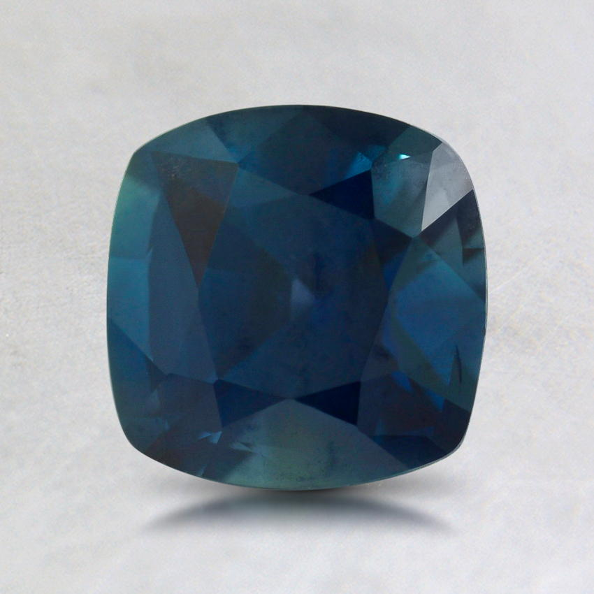 6.5mm Premium Teal Cushion Sapphire, top view