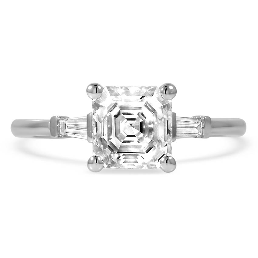 Custom Baguette Three Stone Diamond Ring