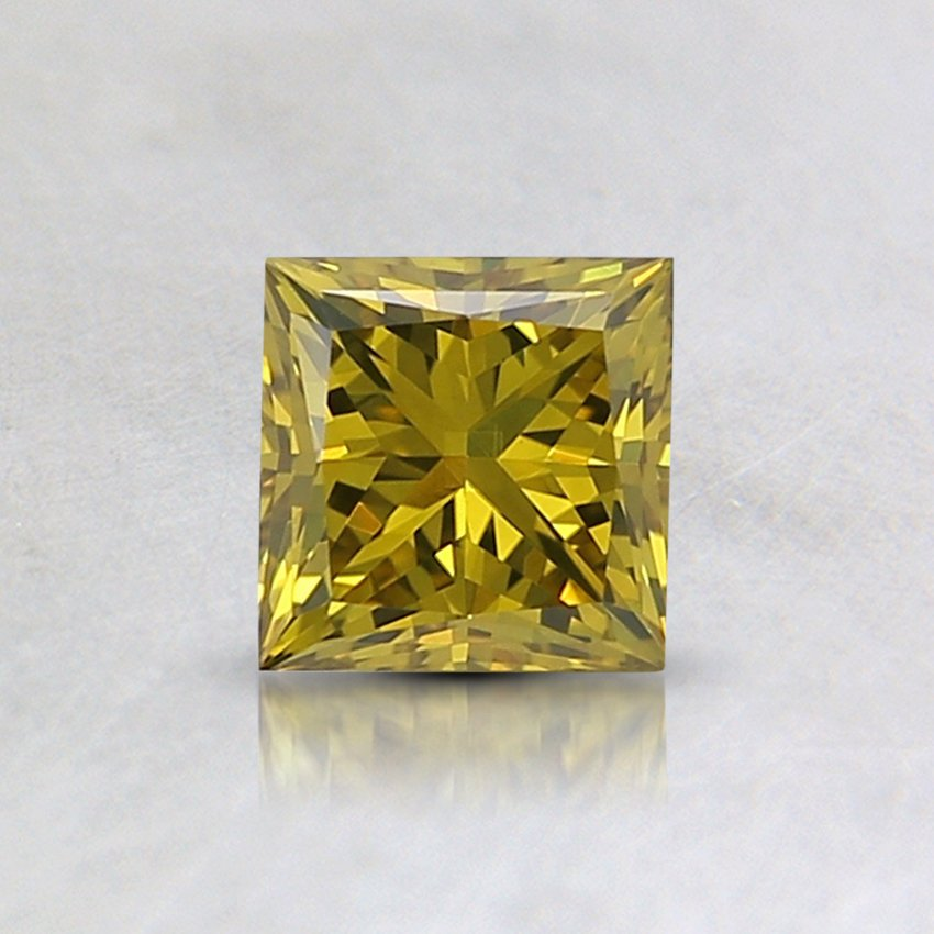0.36 Ct. Lab Created Fancy Vivid Yellow Princess Diamond