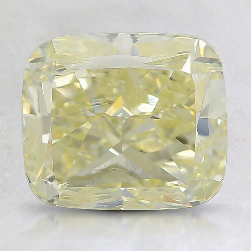 3.02 Ct. Fancy Light Yellow Cushion Diamond