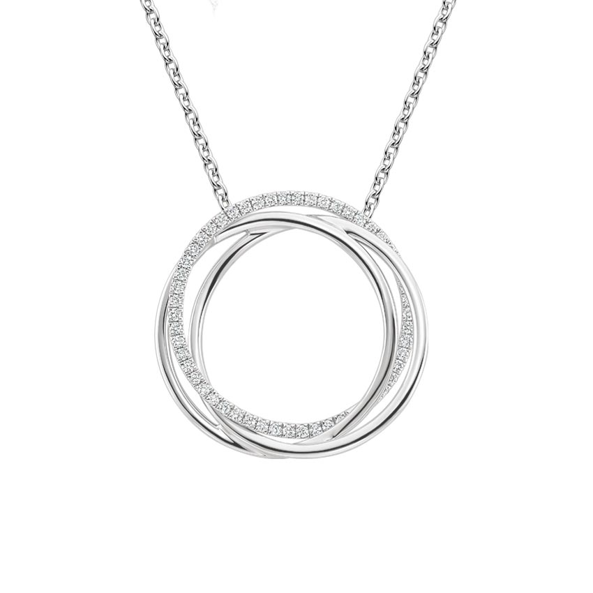 Entwined Hoop Diamond Necklace