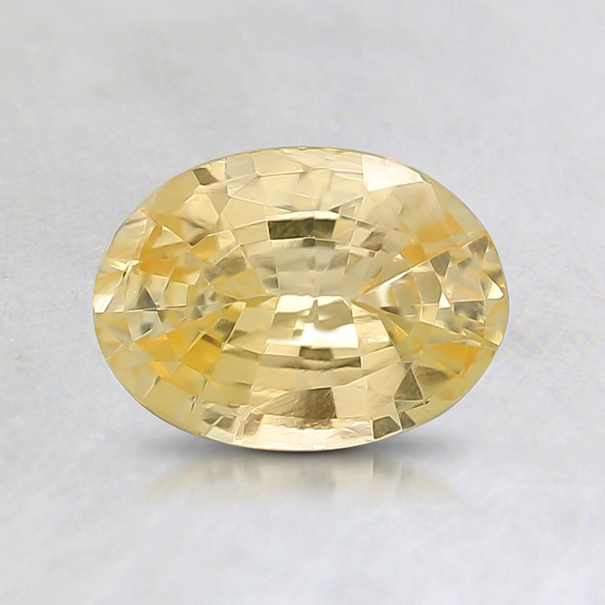 7x5mm Yellow Oval Sapphire