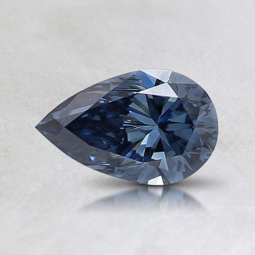 0.58 ct. Lab Created Fancy Vivid Blue Pear Diamond
