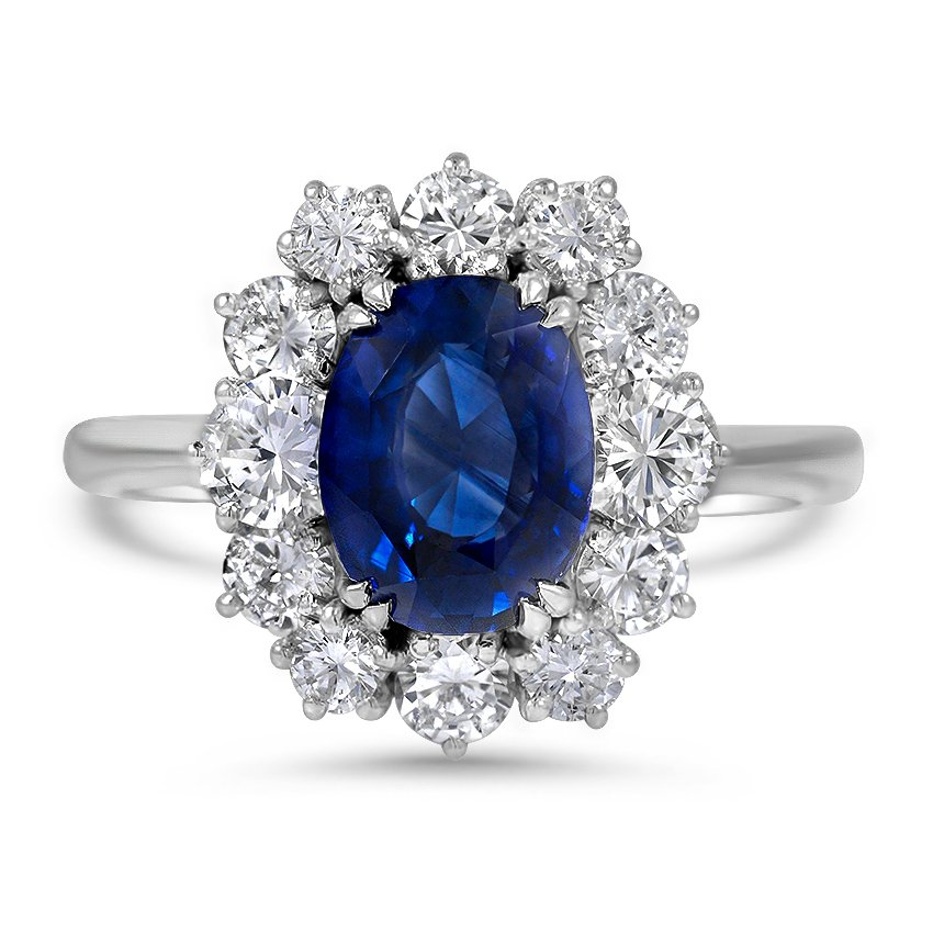 Retro Sapphire Cocktail Ring