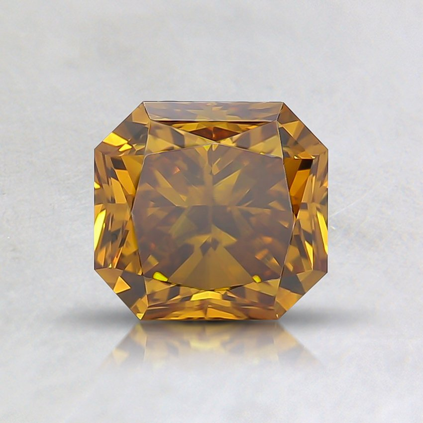 0.96 Ct. Fancy Deep Brownish Yellow Radiant Lab Created Diamond