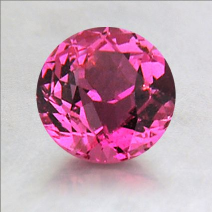 6.5mm Pink Round Sapphire, top view