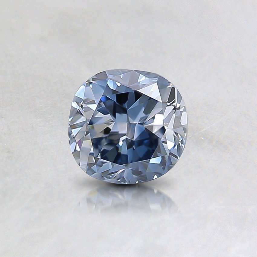 0.53 Ct. Fancy Vivid Blue Cushion Lab Created Diamond