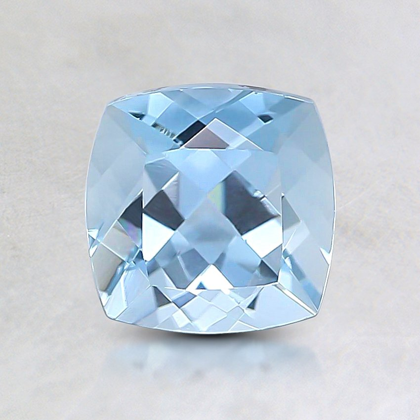 6mm Premium Blue Cushion Aquamarine
