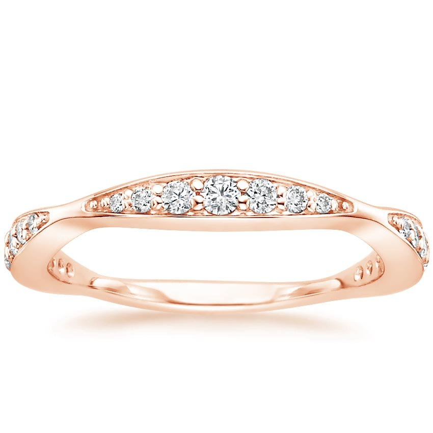 Rose Gold Marquise Cluster Diamond Band