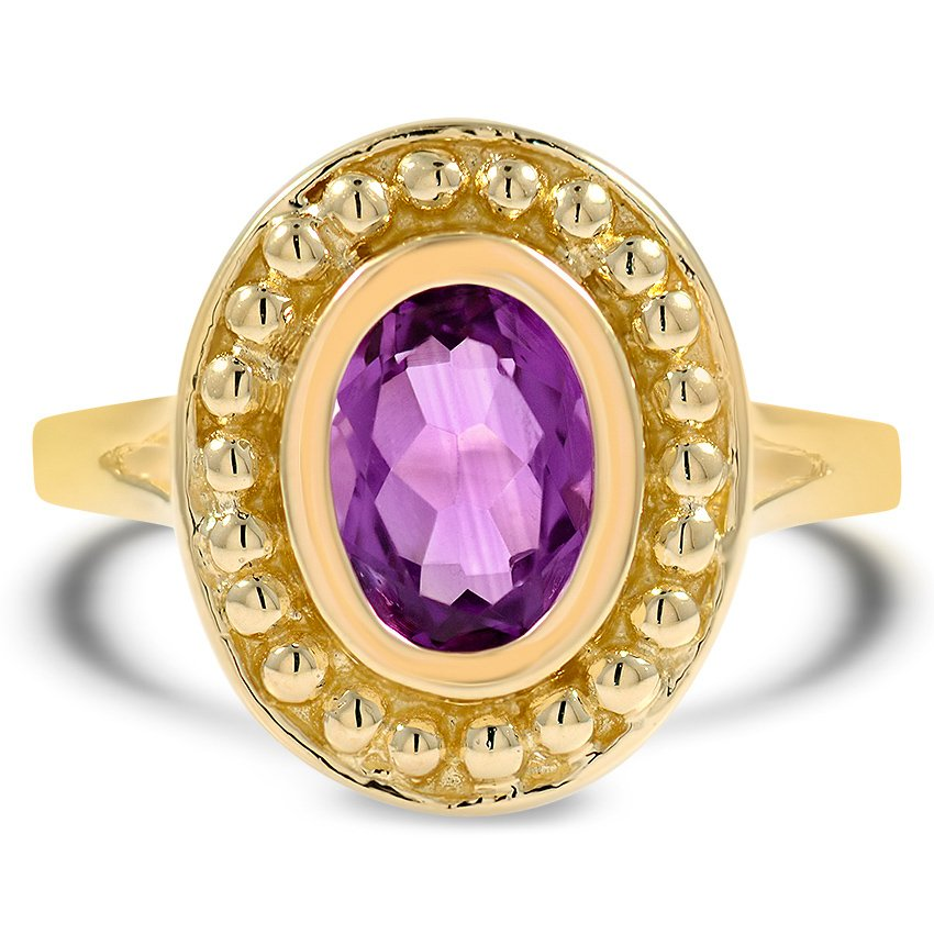 Retro Amethyst Cocktail Ring