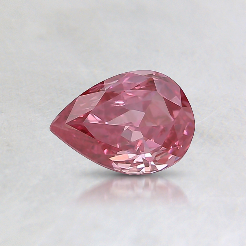 0.32 Ct. Fancy Vivid Pink Pear Lab Created Diamond