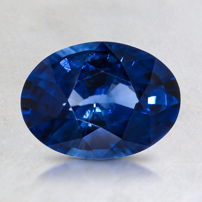 8x6mm Super Premium Blue Oval Sapphire, top view