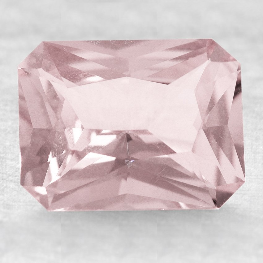 9x7mm Unheated Pink Radiant Sapphire, top view