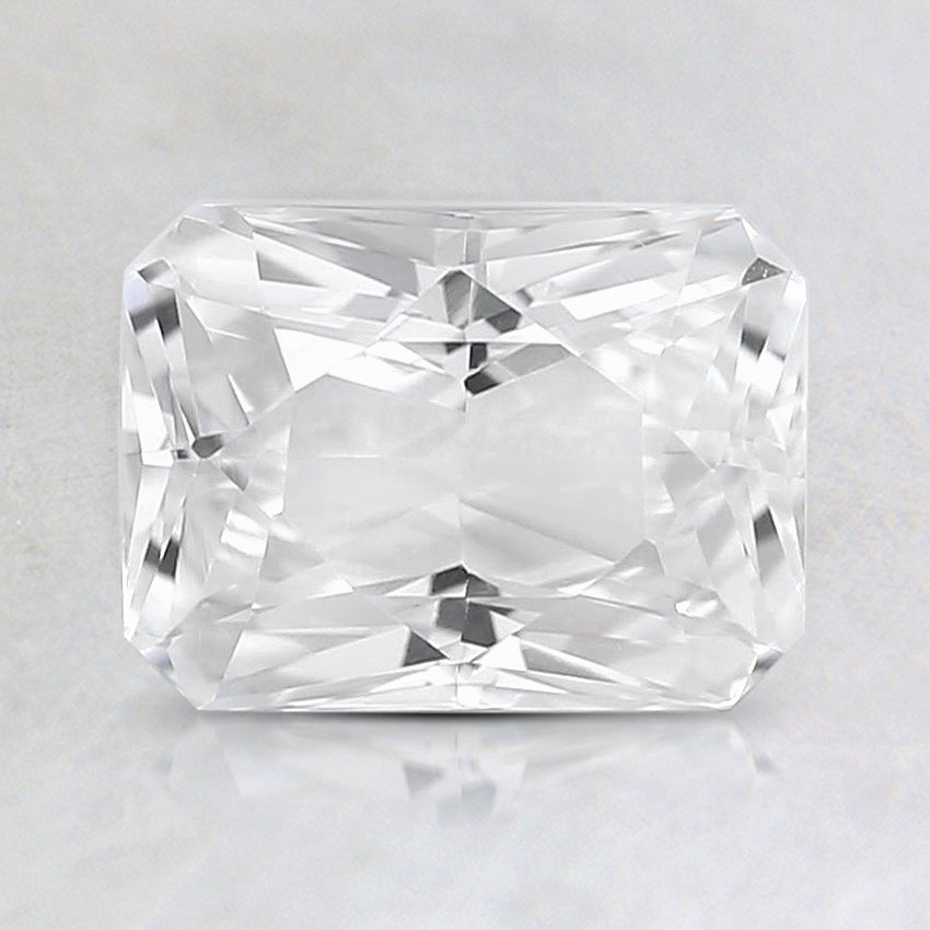 7.4x5.5mm White Radiant Sapphire