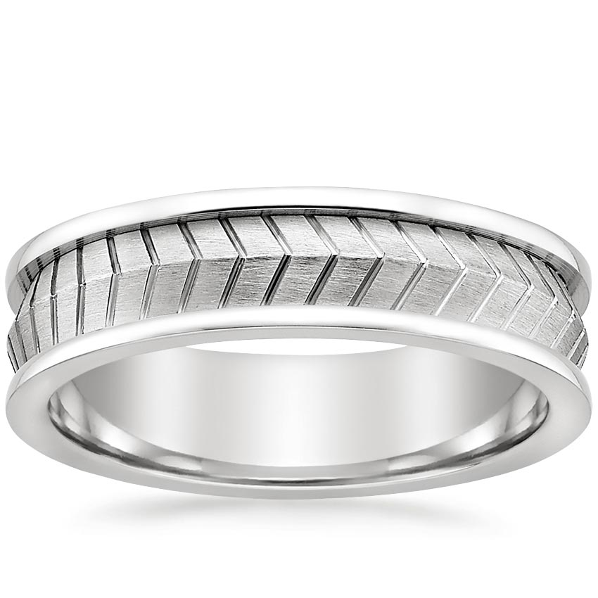 Chevron Men's Wedding Ring