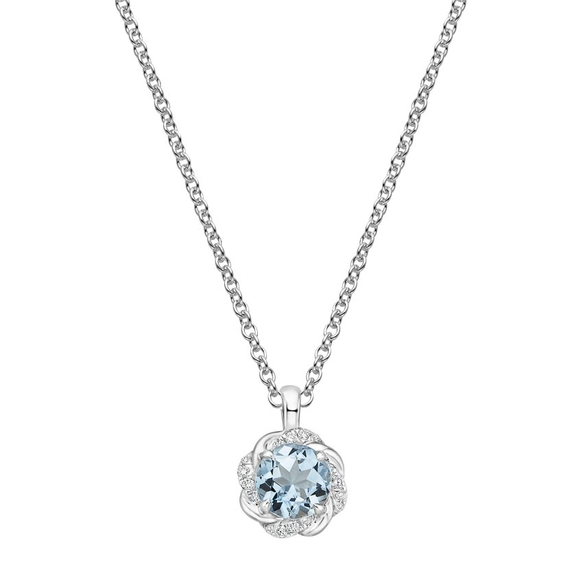 Top TwentyGifts - OCEANA DIAMOND AND AQUAMARINE PENDANT