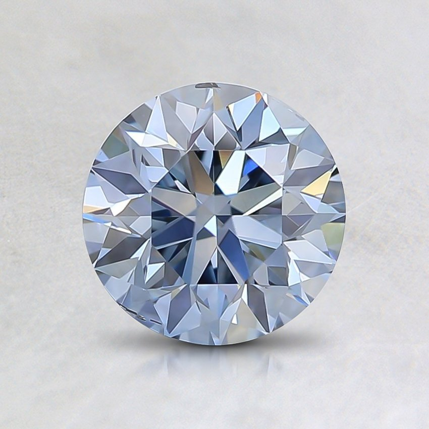 1.00 Ct. Fancy Blue Round Lab Created Diamond