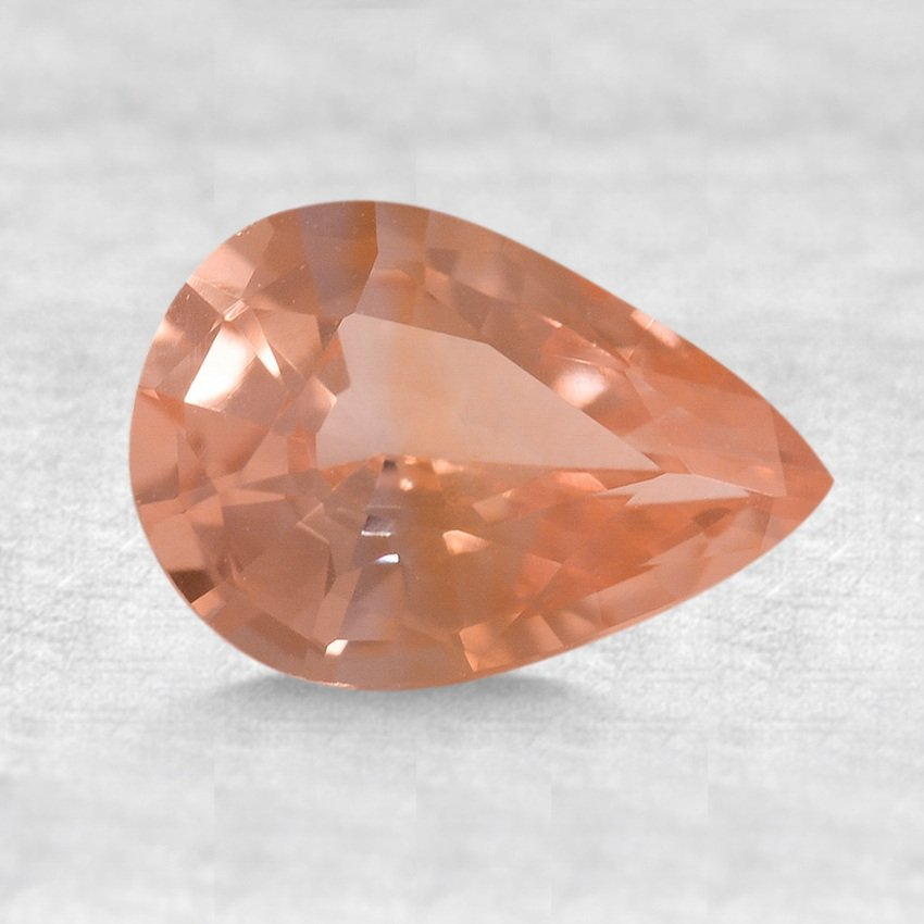 8x5.5mm Premium Peach Pear Sapphire, top view