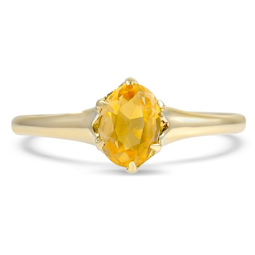 Victorian Citrine Cocktail Ring