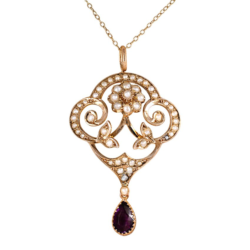 The Marianna Pendant, top view