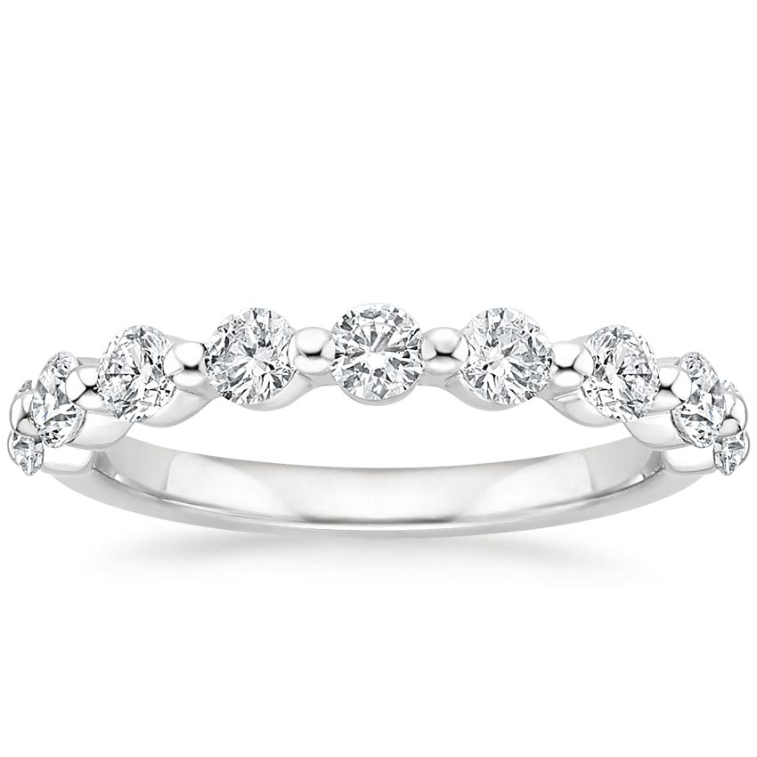 Luxe Single Shared Prong Diamond Ring