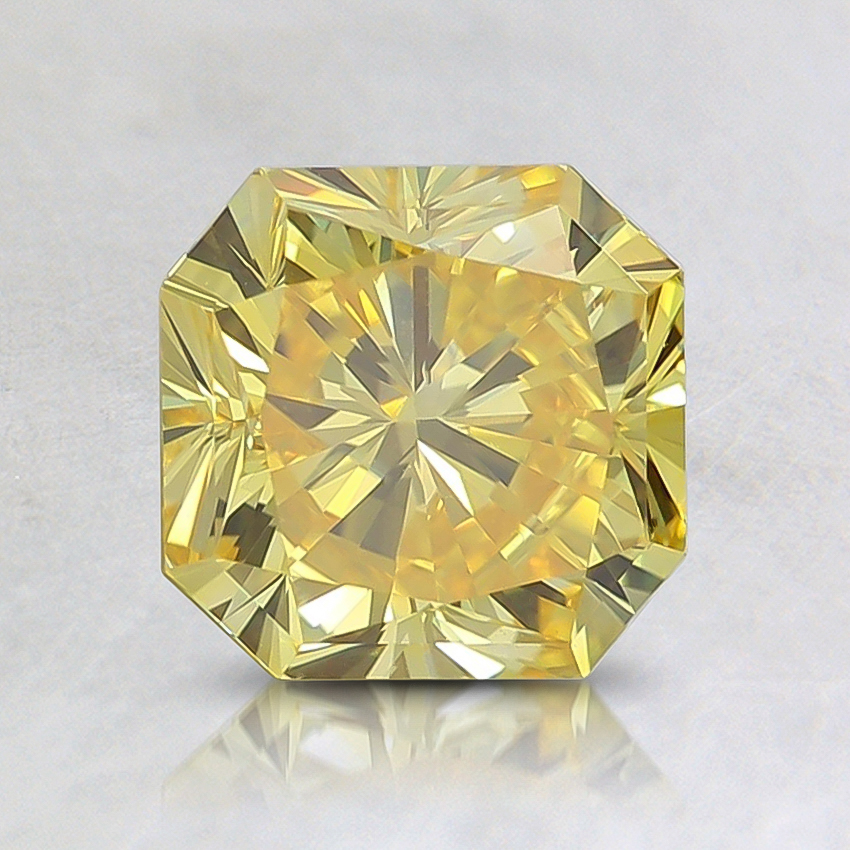 1.31 Ct. Fancy Vivid Yellow Radiant Lab Created Diamond