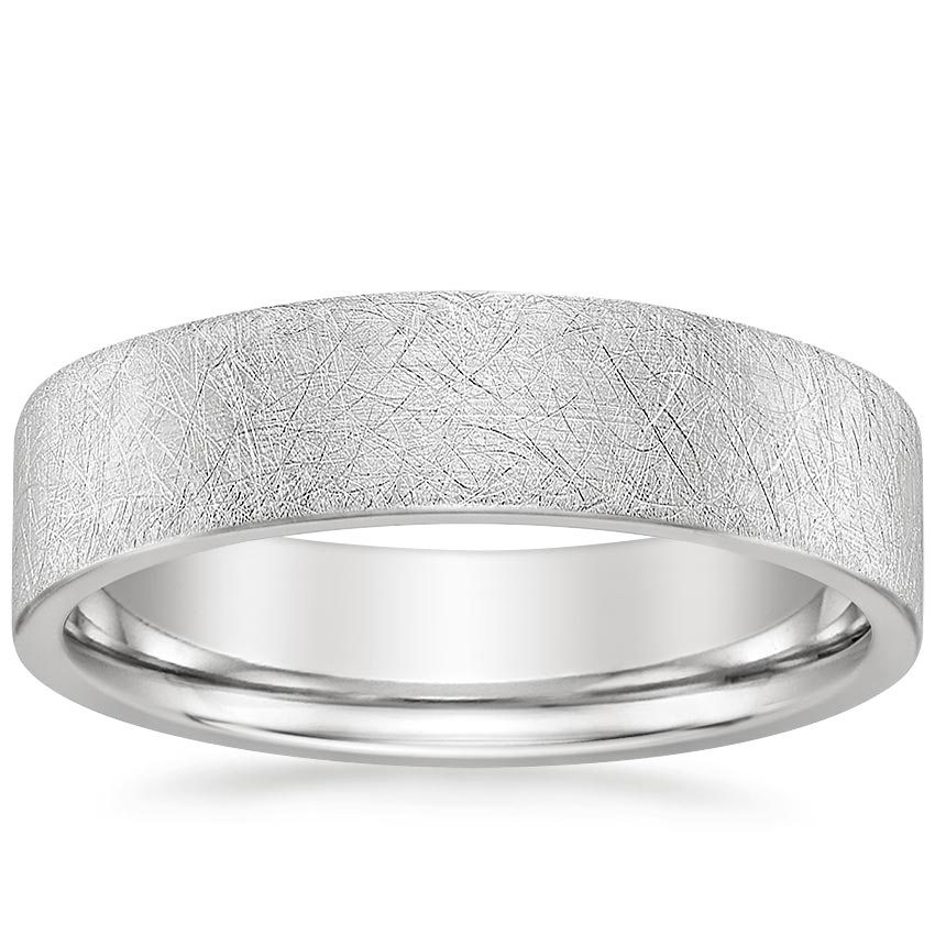 5.5mm Mojave Ice Finish Wedding Ring in Platinum