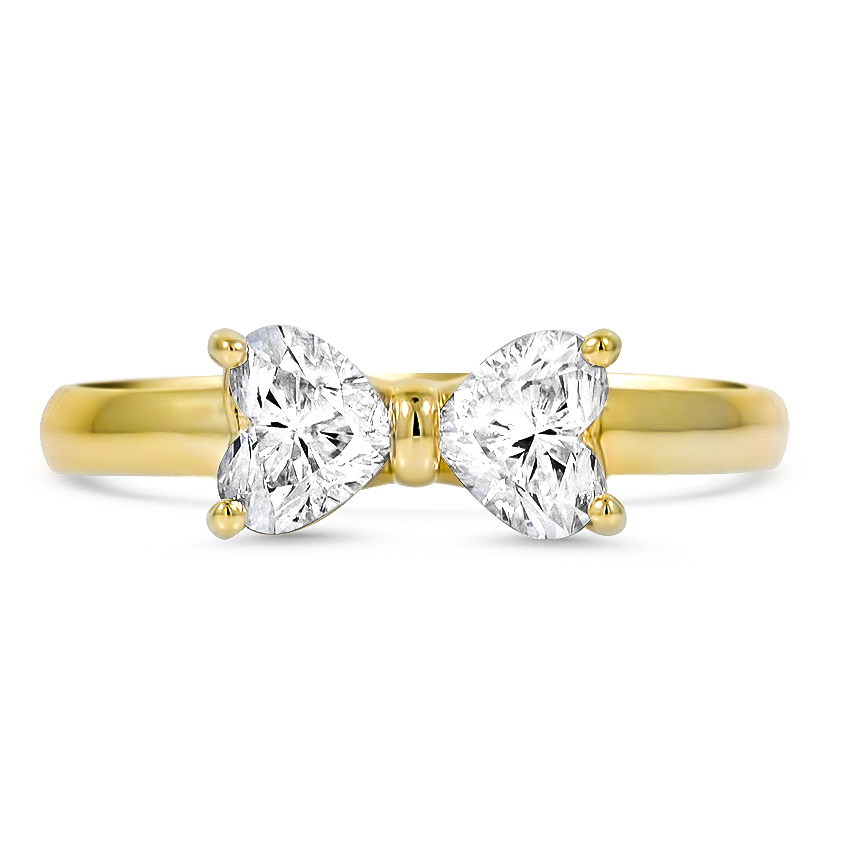 Custom Bow-Inspired Diamond Ring