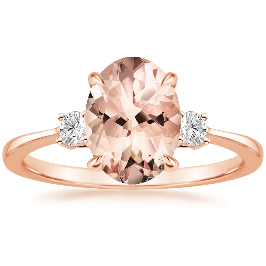 Rose Gold Morganite Selene Ring