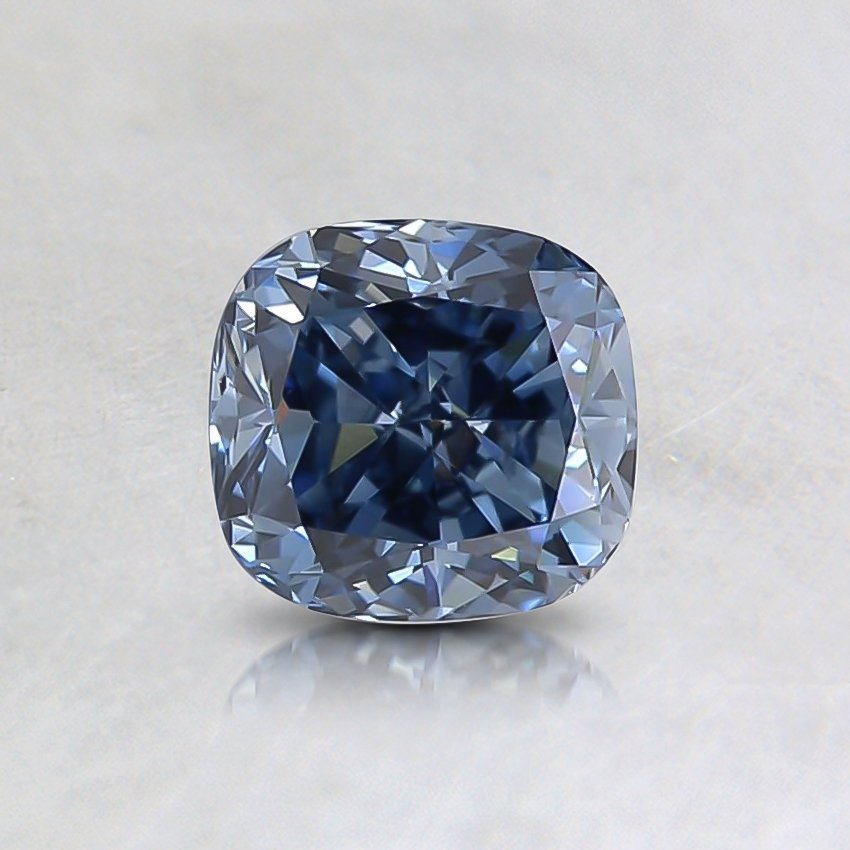 0.62 Ct.  Fancy Vivid Blue Cushion Lab Created Diamond