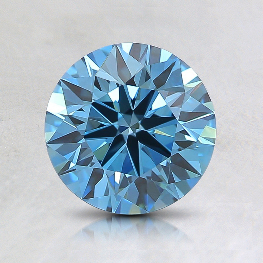 1.01 Ct. Fancy Vivid Blue Round Lab Created Diamond