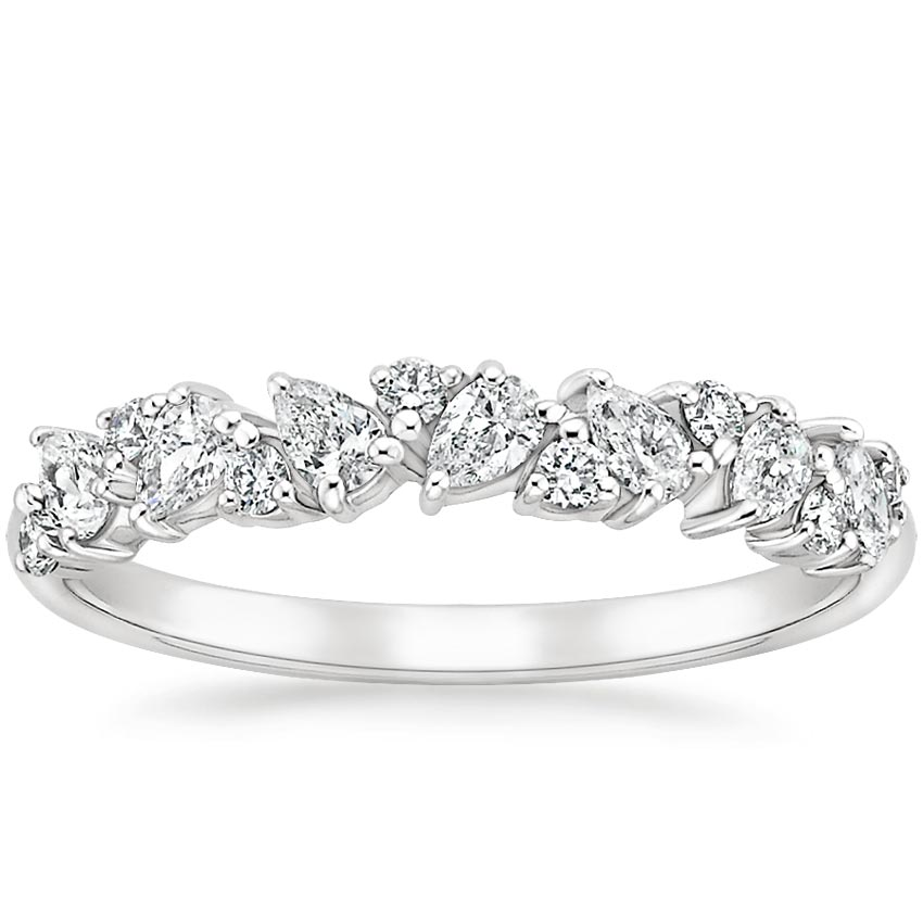 Olivetta Diamond Ring in 18K White Gold
