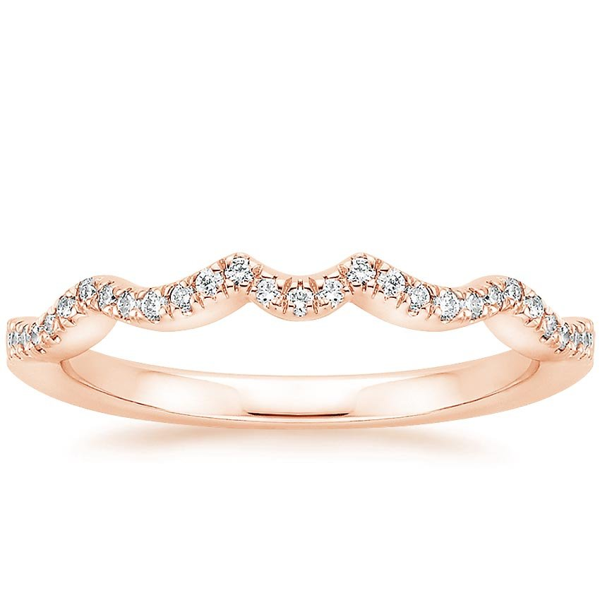 Rose Gold Infinity Contoured Diamond Ring