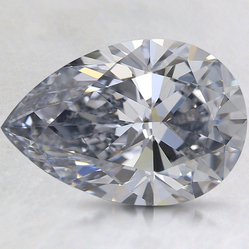 3.02 Ct. Fancy Grayish Blue Pear Lab Created Diamond