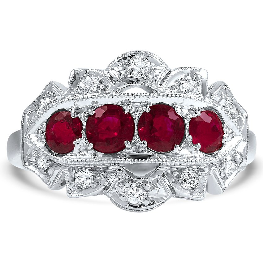 Art Deco Ruby Cocktail Ring