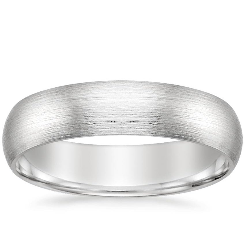 5mm Matte Comfort Fit Wedding Ring in Palladium