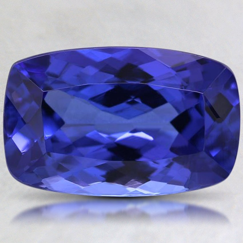 15x9.5mm Premium Purple Cushion Tanzanite